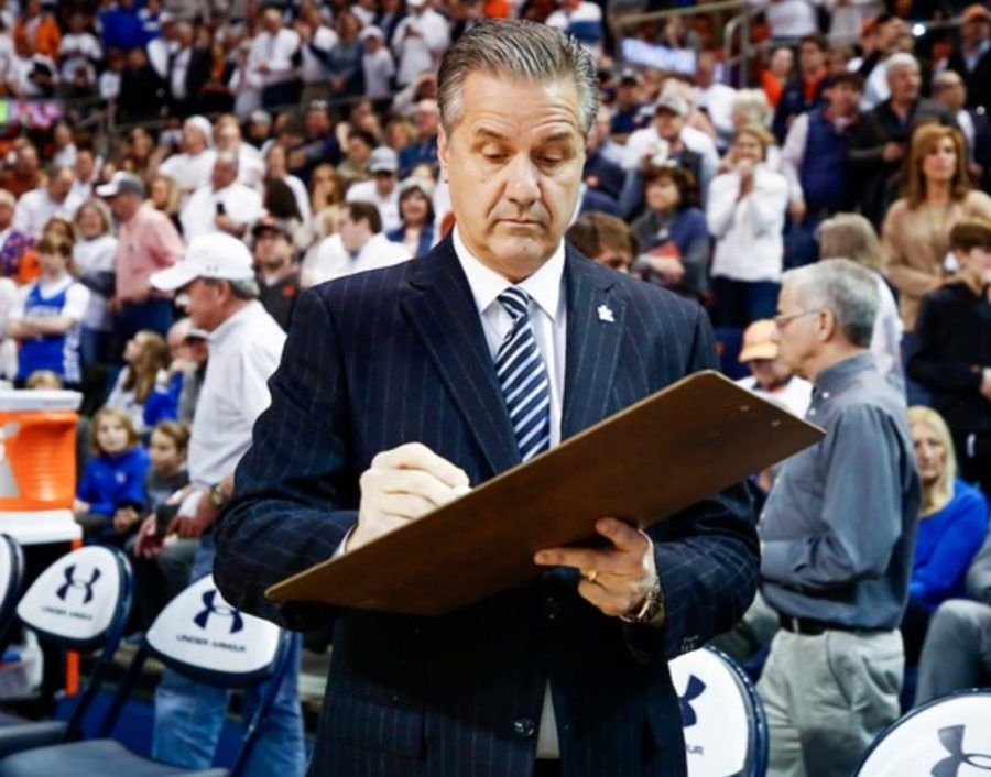 Kentucky+coach+John+Calipari+and+the+Wildcats+will+open+the+season+against+Kansas+in+the+State+Farm+Champions+Classic+in+Chicago.+%28UK+Athletics+Photo%29+