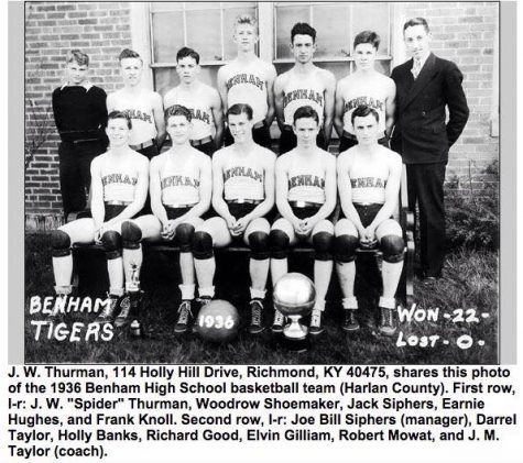 the undefeated Benham High School team of 1926 is pictured