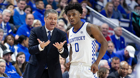 Coach John Calipari explained the situation to Ashton Hagans earlier this season.