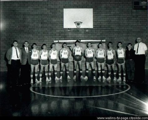 The last Wallins High School basketball team in 1966 is pictured.