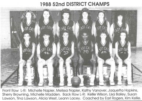 The Evarts Lady Cats won the 52nd DIstrict Tournament title in 1988.