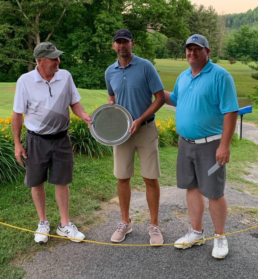 Jeremy+Langley+won+the+Harlan+Invitational+title+with+a+four-under+par+132.+Langley+is+pictured+with+Harlan+Country+Club+officers+Mike+Howard+and+Pete+Cornett+Jr.%0A