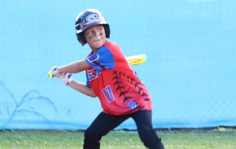 Pace Towing's Hunter Stevens waited for his pitch on Monday in the opening game of Harlan Little League action for the 2020 season.
