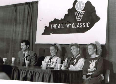 Cumberland coach John Bond is pictured with Joey Morris, Lori Kluck and Kelley Morris during one of the Lady Skins