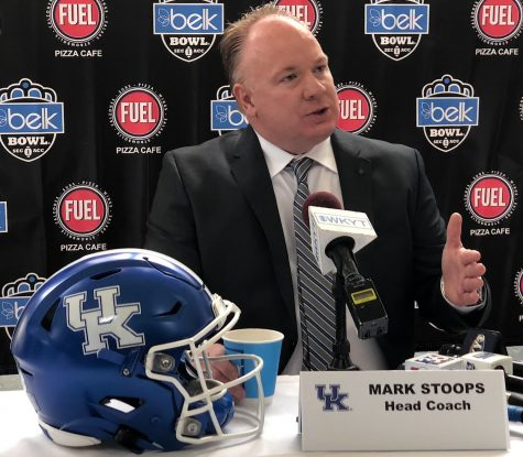 Kentucky coach Mark Stoops is keeping an eye on his team