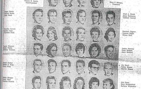 Members of Benham High School's last senior class of 1961 are pictured.