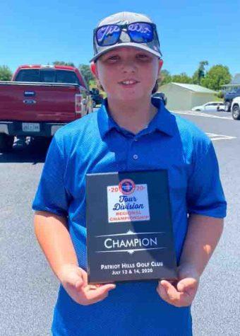 Brayden Casolari won the East Tennessee Junior Tour Tournament at the Patriot Hills Golf Club in Jefferson City, Tenn.