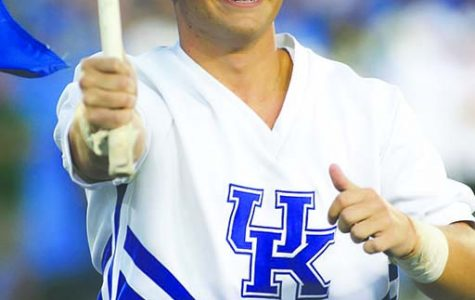 Harlan High School graduate Brady Adkins has been selected for his second season as a member of the University of Kentucky cheerleading squad.