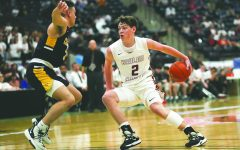 Harlan County guard Trent Noah, pictured in action during the 2020 regional finals, is drawing interested from several Division I schools heading into his sophomore season with the Black Bears.