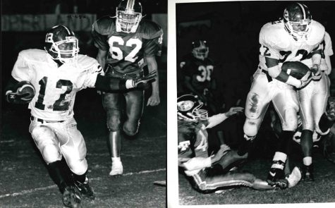 Anthony Ravizee (left) and Charles Tinsley were standout running backs at Cumberland High School in the early 1990s. Ravizee went on to play at Morehead and Tinsley played at Eastern Kentucky University.