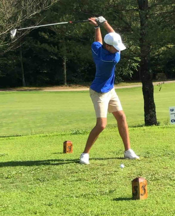 Bell County's Andrew Caldwell won his third match of the young season on Thursday with a one-under par 35.