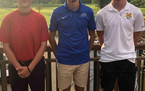 Matt Lewis, Andrew Caldwell and Tyler Harris were the top three finishers Tuesday in a Pine Mountain Golf Conference match at Pineville. Caldwell was the winner with a 37.