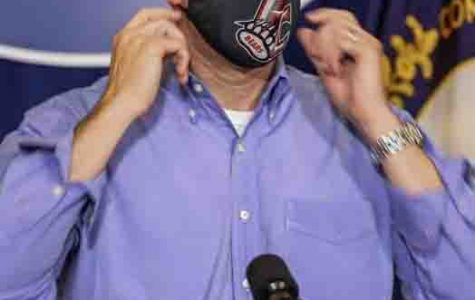 Governor Andy Beshear wore a Harlan County Black Bears mask during his press conference on Friday. It was reportedly a gift from friends in Harlan.