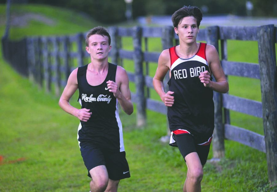 Caleb+Brock+%28left%29+is+expected+to+be+a+leader+for+this+year%27s+Harlan+County+cross+country+team.