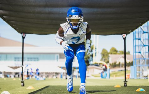 Kentucky defensive back Cedrick Dort Jr. took part in a drill during the second day of fall workouts on Thursday.