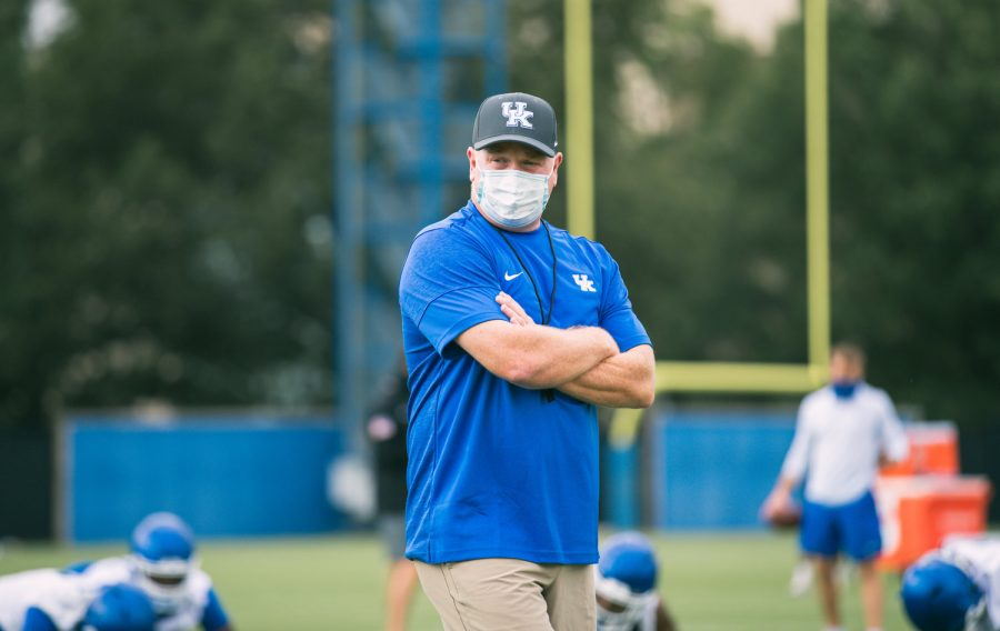 Kentucky+football+coach+Mark+Stoops+and+the+Wildcats+opened+fall+camp+Tuesday+afternoon.