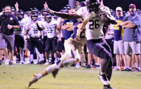 Senior running back Demarco Hopkins ran for 140 yards and two touchdowns in the Bears' 14-13 loss Friday at Knox Central.