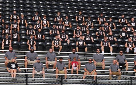 Team members include, from left, first row: managers Breanna Bray and Karly Whitaker, coaches Chad Wood, Scotty Bailey, Nick Bray and Jake Middleton and managers Asteria Steele and Lacey Sanders: second row: coaches Needham Saylor, Zack Caldwell, Denny Farmer, Eddie Creech, manager Trey Creech, coaches Jason Sanders, Jeff Branson and Ed Creech; third row: Tyler Flanary, Matt Brown, Jacob Brown, Josh Swanner, Brett Roark, Cody Clayborn, Josh Turner and Gavin Ewald; fourth row: Hunter Blevins, Demarco Hopkins, Jordan Steele, Hunter Helton, Hunter Penny, Ethan Shepherd, Ethan Caldwell and Thomas Jordan; fifth row: Donovan Simmons, Luke Carr, Josh Caudill, Alex Sanders, Zach Potter, Timothy Bailey, Andrew Johnson and Johnny Brock; sixth row: Chuckie Blackshire, Gavon Spurlock, Bradley Young, Austin Roark, Isaac Downs, Ethan Kinder, Tanner Griffin and Connor Blevins; seventh row: Will Cassim, Carter Howard, Ethan Rhymer, Jared Rhymer, Tyler Baker, Jonah Mumford, Brayden Howard, Jacob Shoemaker and Steven Childers; eighth row: Bryan Howard, Dallas Sergent, Shawn Carroll, Nick Craig, Bradley Henson, Mason Beach, Darren Alred and Christian Middleton.