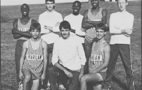 The 1987 Harlan regional championship team included, from left, front row: Ricky Blanton, John Mink and Will Miller; back row: Stephen Underwood, Marc Estep, Edell Gray, Rodger Simms and Mike Pace.
