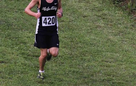 Harlan County's Caleb Brock was fourth in the Wayne County Invitational on Saturday.