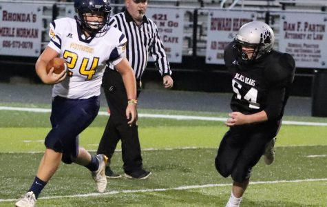 Harlan County's Brody Hensley chased a Knox Central ball carrier in Thursday's game. Knox raced to an early lead on the way to a 30-18 victory.