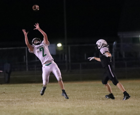 Harlan receiver Shane Lindsey went up for the ball during a 22-20 win Friday at Berea.