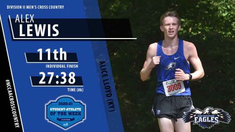 Alice Lloyd College's Alex Lewis has been named NCCAA Men's Division II Cross Country National Student-Athlete of the Week