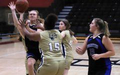 Black Mountain's Chelsea Cottrell worked inside for two of her 27 points against Evarts on Thursday.