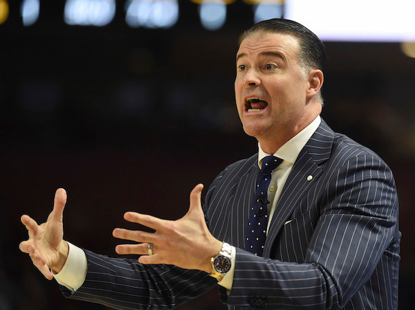 Kentucky coach Matthew Mitchell directed players in the first half of an NCAA college basketball game against South Carolina during the Southeastern Conference Tournament.
