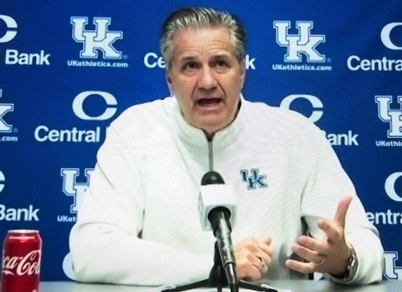 Kentucky coach John Calipari spoke to the media during a zoom press conference on Christmas Eve. The Wildcats play rival Louisville on Saturday.