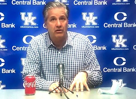 Kentucky coach John Calipari is discouraged after the Wildcats blew a late six-point lead at Georgia on Wednesday.