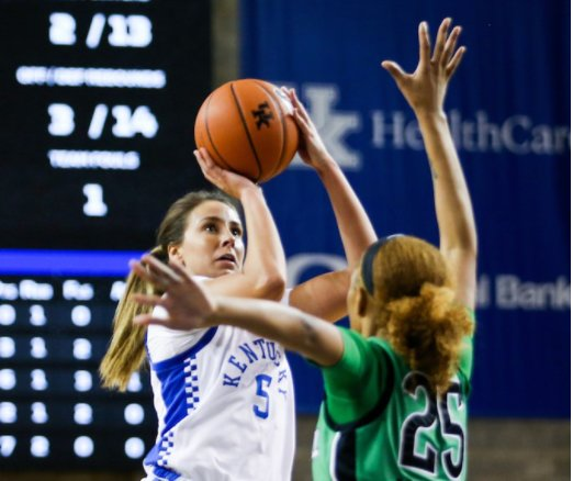 Blair Green scored 17 points, a career-high, in Kentucky's win over Marshall earlier this week in Lexington.