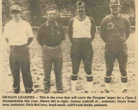 Harlan football coaching staff - 1978