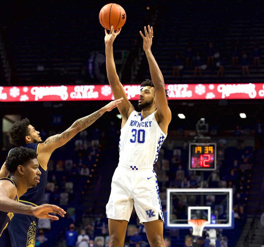 Olivier Sarr scored 22 points in Kentucky's loss to Notre Dame Saturday at Rupp Arena.