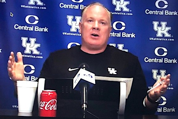 Mark Stoops talked to reporters during a zoom press conference Monday. The Wildcats will take on N.C. State in the TaxSlayer Gator Bowl Saturday in Jacksonville.