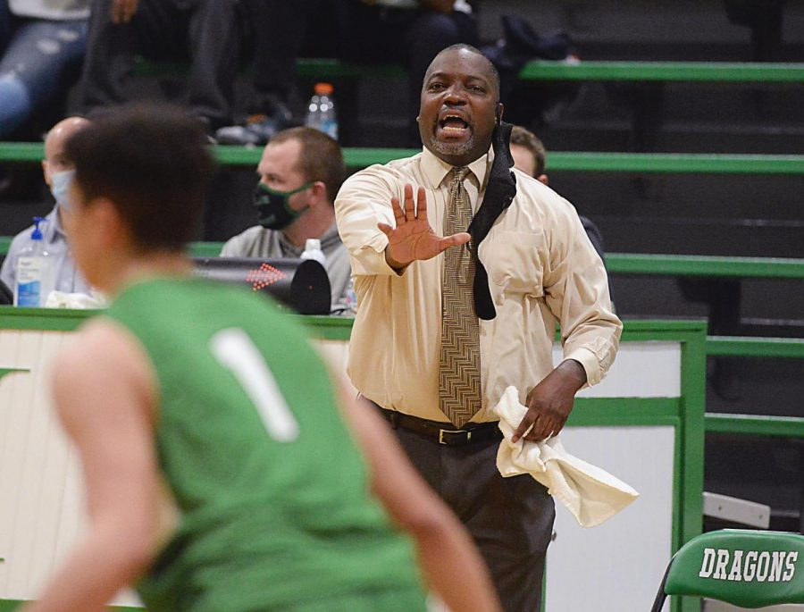 Harlan+coach+Derrick+Akal%2C+pictured+in+action+earlier+this+season%2C+will+lead+his+Green+Dragons+into+tonight%27s+All+%22A%22+Classic+regional+championship+game+at+Harlan.+The+Green+Dragons+will+take+on+Barbourville+as+they+seek+their+second+straight+tournament+title.
