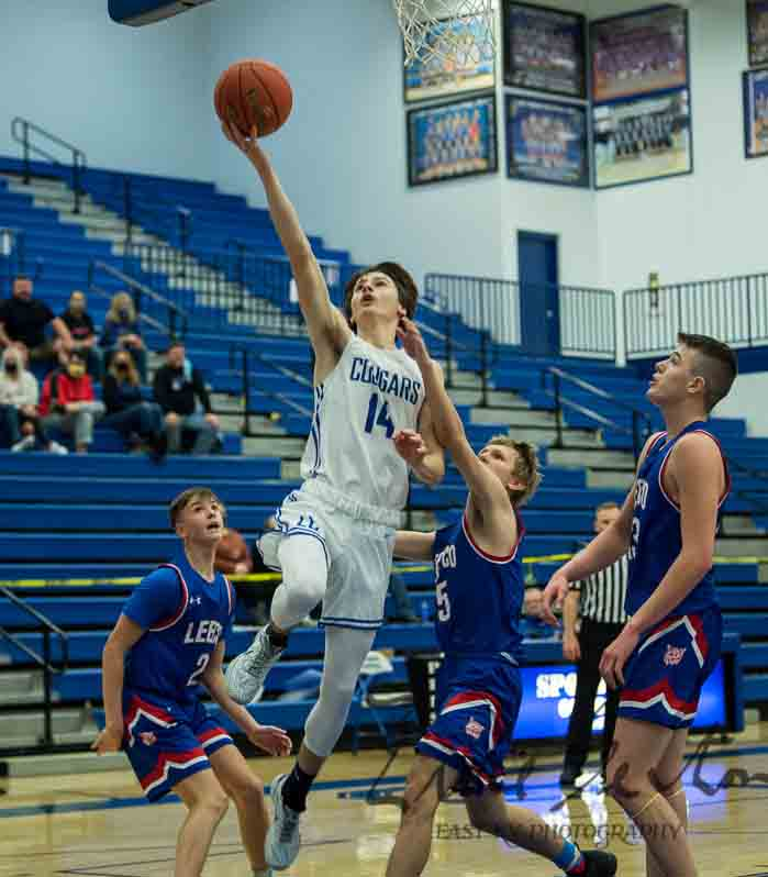 Bodie Bentley went in for two of his 28 points on Tuesday in Letcher Central's 76-72 win over Lee County.