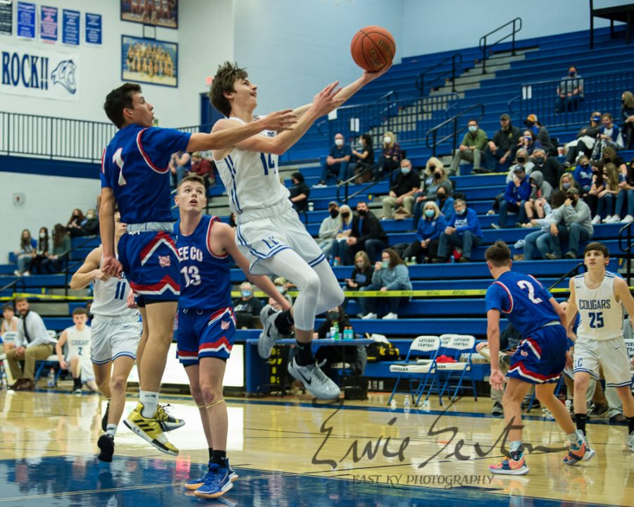 Letcher Central guard Bodie Bentley, pictured in action earlier this season, scored 25 points in the Cougars win over Phelps on Tuesday.
