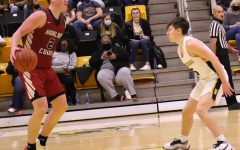 Trent Noah set up the Harlan County offense in Tuesday's district clash at Middlesboro. Noah had 16 points and 13 rebounds as the Black Bears won 67-39.
