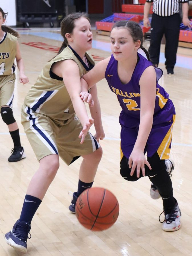 Wallins' Raegan Landa went to the basket in county tournament action Tuesday.