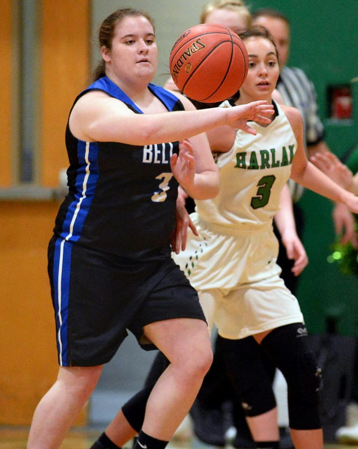 Bell%27s+Mikayla+Gambrel+grabbed+a+loose+ball+in+a+game+earlier+this+season+against+Harlan.+Bell+won+65-37+over+the+Lady+Dragons+on+Monday+at+Bell.