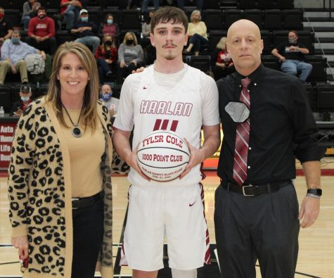 Harlan County senior Tyler Cole was honored during Thursday