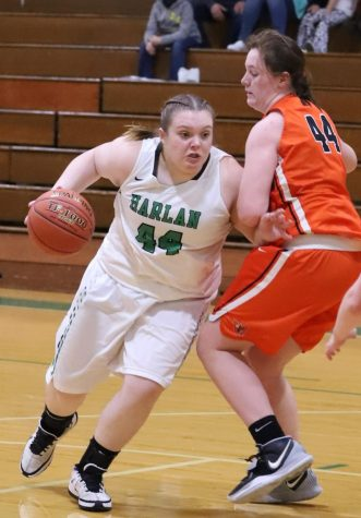 Abbi Fields worked around a Williamsburg defender in action earlier this season. Fields and the Lady Dragons overcame an early 16-2 deficit to win in overtime at Lynn Camp on Saturday.