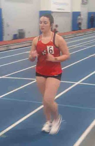 Former Harlan County High School standout Morgan Blakley set a school record for Union College in a race at Indiana Tech over the weekend.