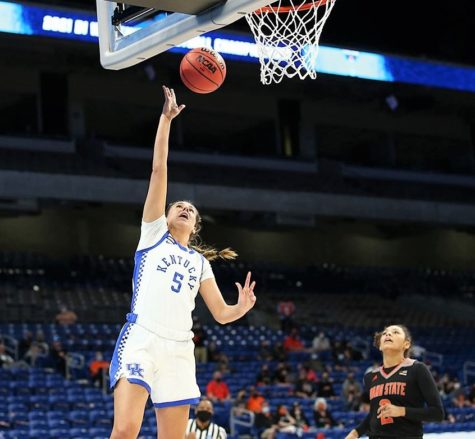 Blair Green went up for a layup against Idaho State on Sunday afternoon.