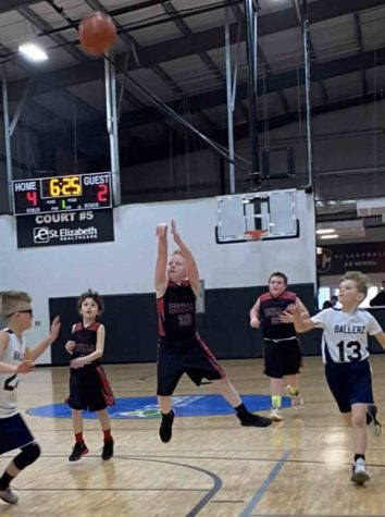 Blake Johnson, a member of the Harlan County Bulls, put up a shot in state competition over the weekend. The Bulls finished in the final four.