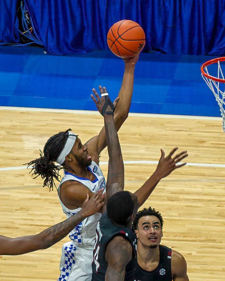 Isaiah+Jackson+went+up+for+a+shot+in+a+win+over+South+Carolina+last+Saturday+at+Rupp+Arena.
