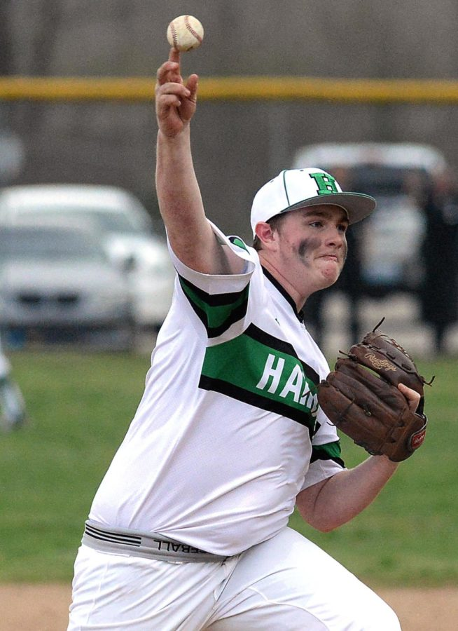 Jared Moore pitched six strong innings for Harlan on Tuesday, giving up one run on four hits. Leslie County rallied for a 7-6 win.