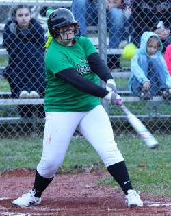 Abbi Fields had three hits in Harlan's 17-14 win Monday at New Harlan in middle school softball action.
