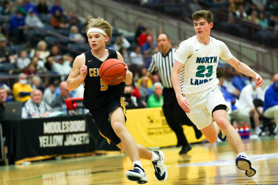 Knox Central's Abe Brock raced down the court in the 13th Region Tournament finals on Saturday.